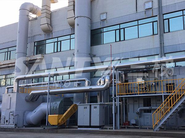沸石浓缩转轮装置+蓄热式焚烧炉(RTO)